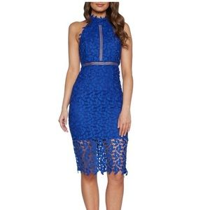 Bardot Gemma Halter Dress - Cobalt Blue